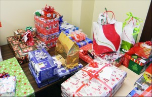 Christmas presents at the Muncie Mission