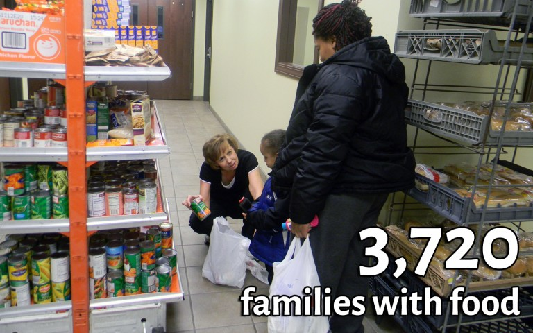 3,720 families with food
