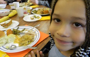 Thanksgiving at the Mission includes a traditional Thanksgiving meal for all ages.