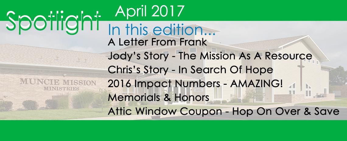 April Spotlight Newsletter