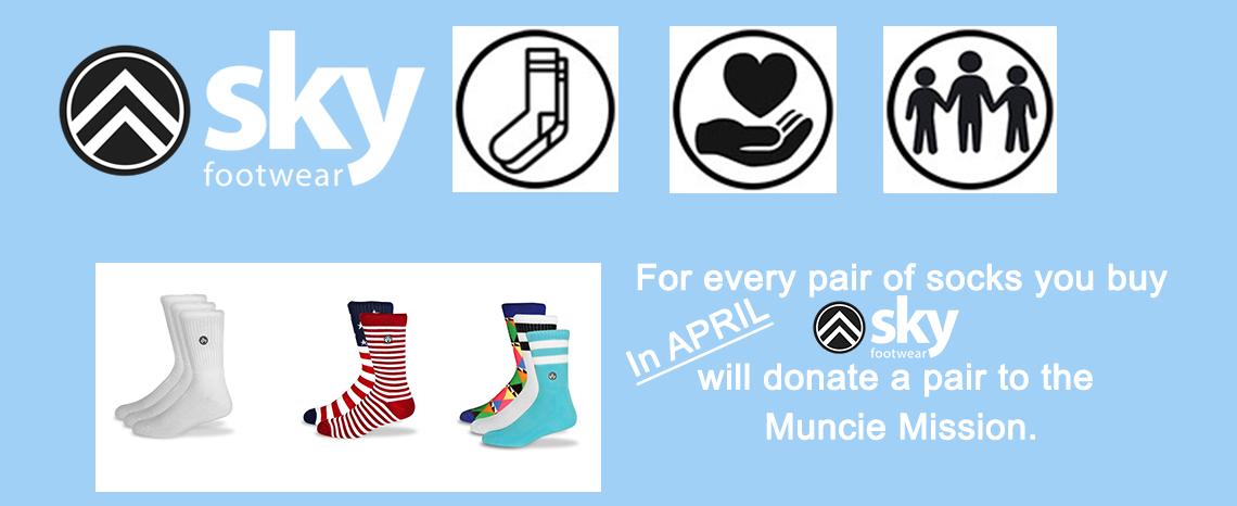 SKY Footwear April Donation