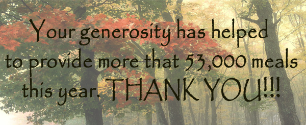 September thank you for 53,000 meals